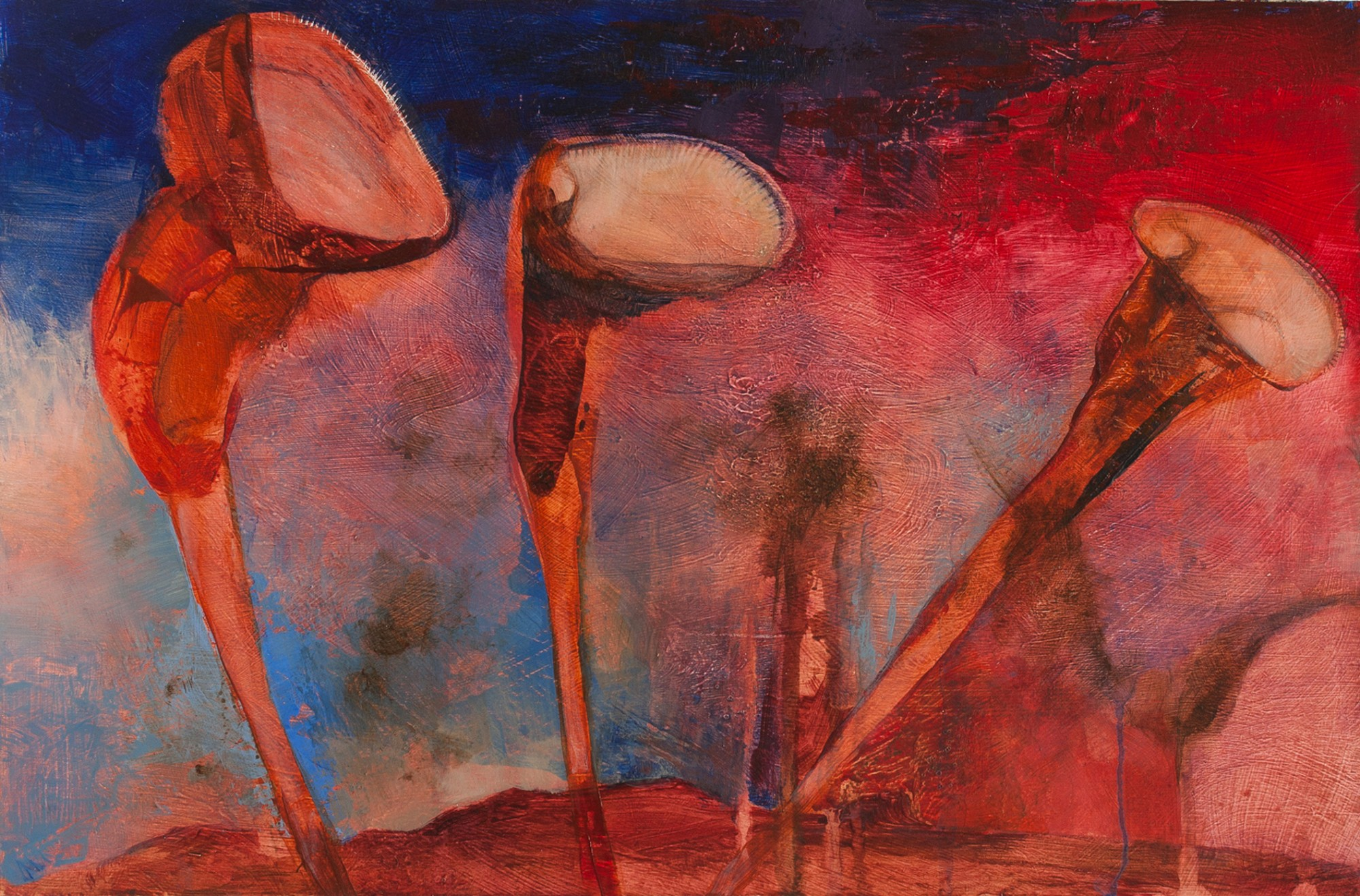 Ellen Hausner Painter Oxford Another World (acrylic on board), 2013