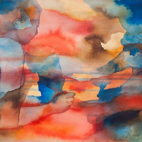 Ellen Hausner Painter Oxford Aurora (watercolour, ink, and graphite on paper), 2015