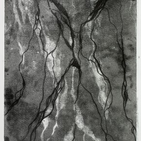 Ellen Hausner Painter Oxford Untitled (Monoprint sereis 2B) (monoprint on paper), 2012