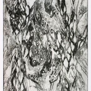 Ellen Hausner Painter Oxford Biology Print (etching on paper), 2011