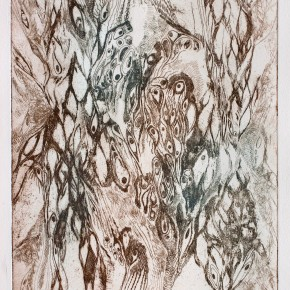 Ellen Hausner Painter Oxford Biology Print (two-tone etching on paper), 2011