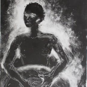 Ellen Hausner Painter Oxford African Drummer II (monoprint), 2012
