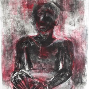 Ellen Hausner Painter Oxford African Drummer (monoprint and pastel), 2012