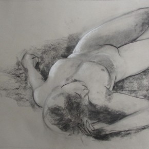Ellen Hausner Painter Oxford Sketch of nude (charcoal and chalk on paper), 2012