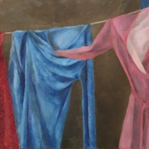 Ellen Hausner Painter Oxford Clothes (oil on board), 2011