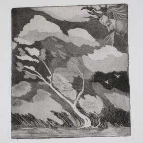 Ellen Hausner Painter Oxford Four Elements: Air (etching and aquatint on paper), 2012