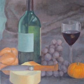 Ellen Hausner Painter Oxford French still life (oil on board), 2011