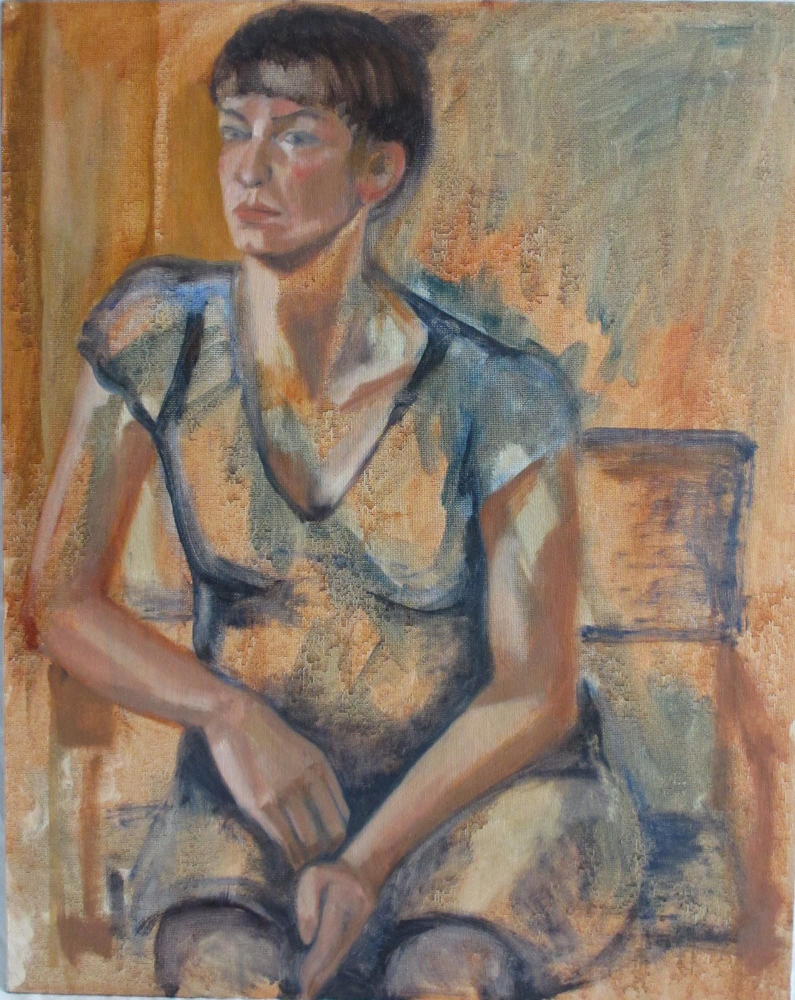 Ellen Hausner Painter Oxford Marie (oil on board), 2012