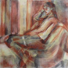 Ellen Hausner Painter Oxford Multiple Maries (charcoal and pastel on paper), 2012