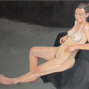 Ellen Hausner Painter Oxford Nude portrait (oil on canvas), 2012