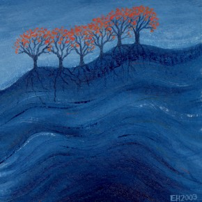 Ellen Hausner Painter Oxford Water Trees (oil on paper), 2003