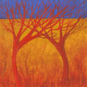 Ellen Hausner Painter Oxford Fire Trees II (oil on paper), 2003