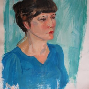 Ellen Hausner Painter Oxford Portrait (acrylic and oil on paper), 2012