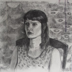 Ellen Hausner Painter Oxford Portrait (charcoal on paper), 2012