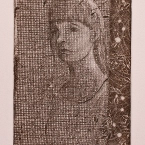 Ellen Hausner Painter Oxford Portrait (soft-ground etching on paper), 2012