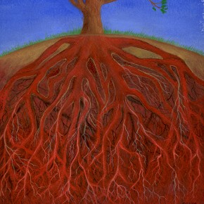 Ellen Hausner Painter Oxford Roots (oil on paper), 2003