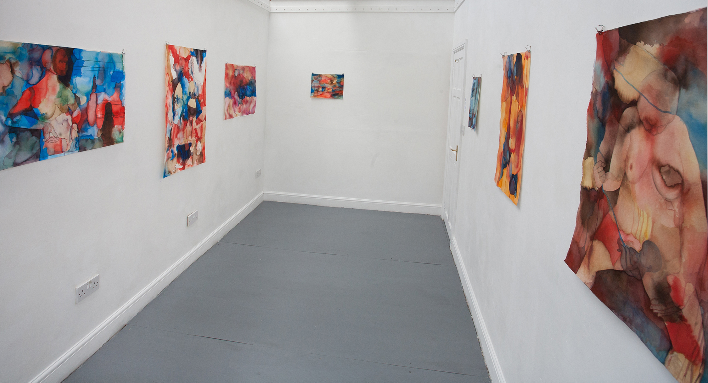 Ellen Hausner Painter Oxford Installation shot from The Inside is the Outside, 2014
