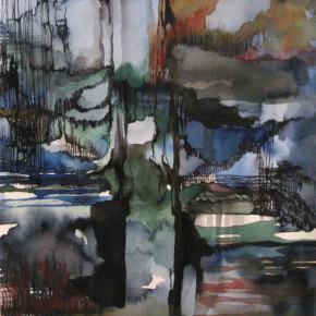 Ellen Hausner Painter Oxford Tower II (watercolor and ink on paper), 2011