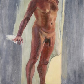 Ellen Hausner Painter Oxford Male model (oil on canvas), 2009