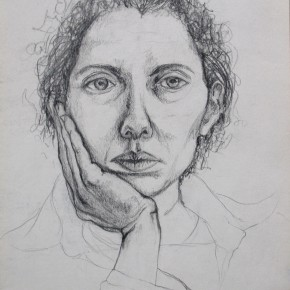 Ellen Hausner Painter Oxford Self-Portrait (graphite on paper), 2000