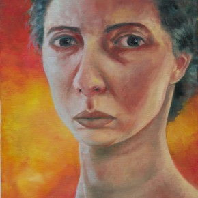 Ellen Hausner Painter Oxford Self Portrait (oil on canvas), 2000