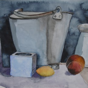 Ellen Hausner Painter Oxford Still Life with Lemon (watercolour on paper), 2009