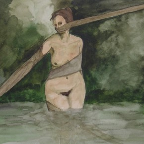 Ellen Hausner Painter Oxford The Lake 1 (watercolour on paper), 2001
