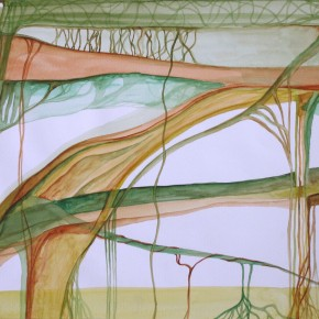 Ellen Hausner Painter Oxford Abstract Landscape 1 (watercolour on paper), 2000