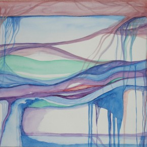 Ellen Hausner Painter Oxford Abstract Landscape 3 (watercolour on paper), 2000