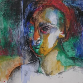 Ellen Hausner Painter Oxford Untitled (charcoal, oil pastel and oil on paper), 2000