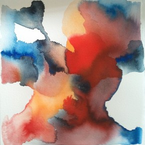 Ellen Hausner Painter Oxford Untitled III (blue and red series) (watercolour and ink on paper), 2015