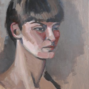 Ellen Hausner Painter Oxford Portrait (acrylic on board), 2012