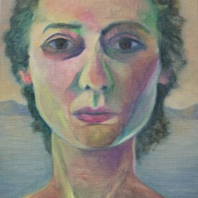 Ellen Hausner Painter Oxford Self-portrait (oil on board), 2000