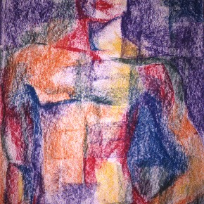 Ellen Hausner painter Untitled (Art Student's League series) (pastel on paper), 1999