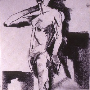 Ellen Hausner painter Untitled (Art Student's League series) (charcoal on paper), 1999