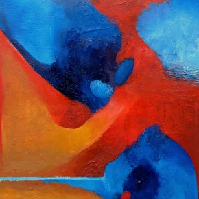 Ellen Hausner Painter Oxford Untitled (blue and red series), (oil on canvas), 2015